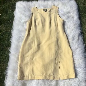 Tommy Bahama Yellow Sleeveless Silk Dress
